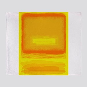 Colorfield Yellow after Rothko Throw Blanket