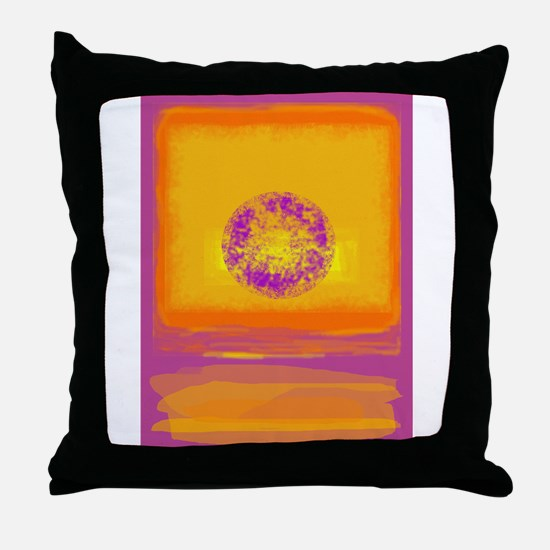 Colorfield Sunset Throw Pillow