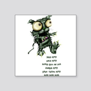 zombie kitty Sticker