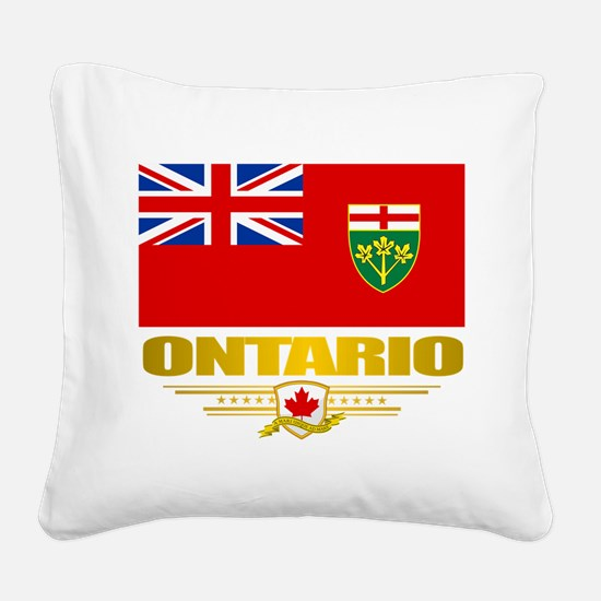 Ontario Pride Square Canvas Pillow