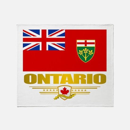 Ontario Pride Throw Blanket