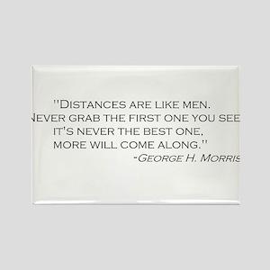 George Morris distances quote Rectangle Magnet