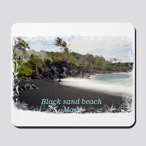 Black sand beach Mousepad