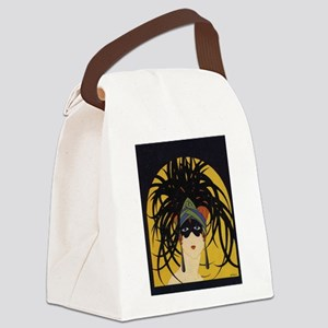 Art Deco Lady Canvas Lunch Bag