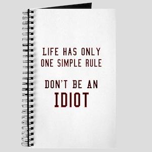 Don't Be An Idiot Journal