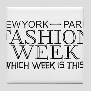 Fashion Week, New York or Paris? Tile Coaster