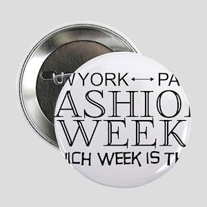 "Fashion Week, New York or Paris? 2.25"" Button"