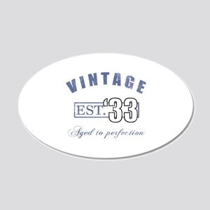 1933 Vintage Est. 20x12 Oval Wall Decal