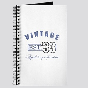 1933 Vintage Est. Journal