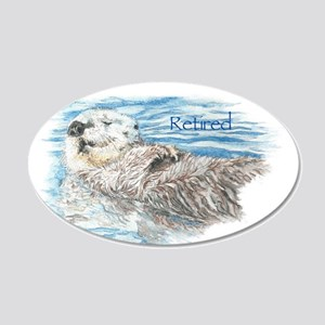 Cute Watercolor Retired Otter Animal Decal Wall St