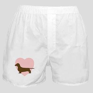 Dachshund Heart Boxer Shorts