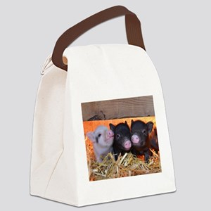 Three Little Piggies Canvas Lunch Bag