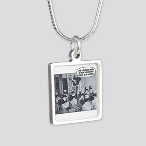 Nursing Class Doohicky Silver Square Necklace
