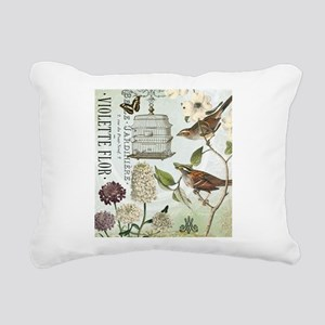 Modern vintage French birds and birdcage Rectangul