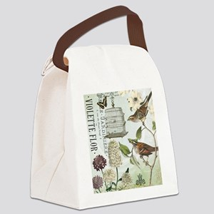 Modern vintage French birds and birdcage Canvas Lu