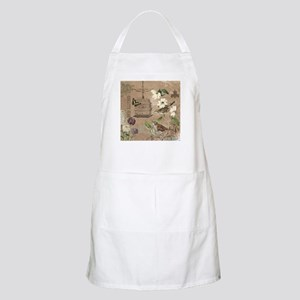 Modern vintage French birds and birdcage Apron