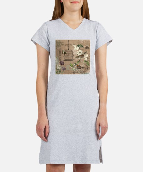 Modern vintage French birds and birdcage Women's N