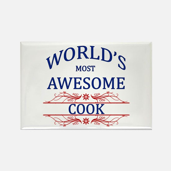 World's Most Awesome Cook Rectangle Magnet