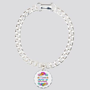 I Love Golf Charm Bracelet, One Charm