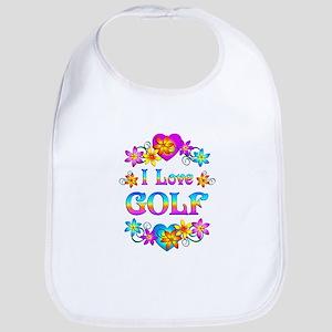 I Love Golf Bib