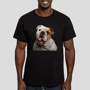 Bulldog Men's Fitted T-Shirt (dark)