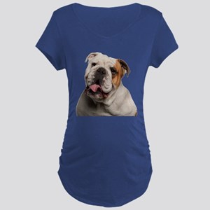 Bulldog Maternity Dark T-Shirt