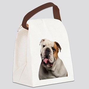 Bulldog Canvas Lunch Bag