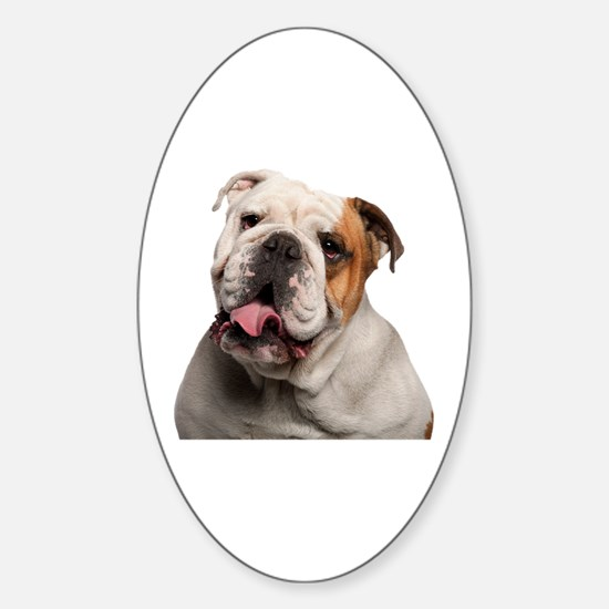 Bulldog Sticker (Oval)