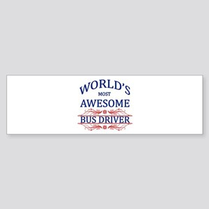 World's Most Awesome Bus Driver Sticker (Bumper)