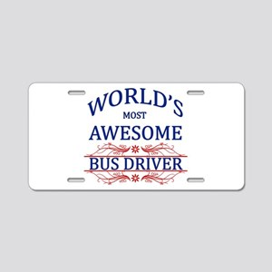 World's Most Awesome Bus Driver Aluminum License P