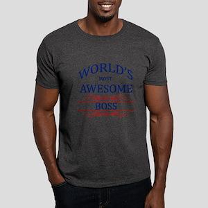 World's Most Awesome Boss Dark T-Shirt