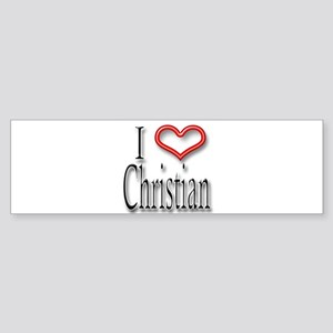 I Heart Christian Bumper Sticker