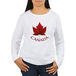Canada Maple Leaf Souv Women's Long Sleeve T-Shirt