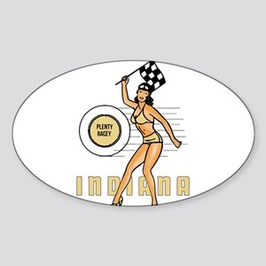 Vintage Indiana Pinup Sticker
