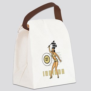 Vintage Indiana Pinup Canvas Lunch Bag