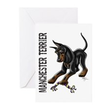 Manchester Terrier - Cropped Greeting Cards (Pk of