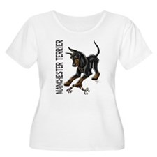 Manchester Terrier - Cropped Plus Size T-Shirt