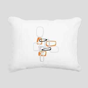 Space Age Rectangles Rectangular Canvas Pillow