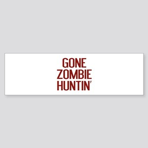Gone Zombie Huntin' Sticker (Bumper)