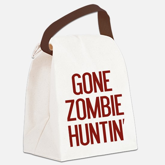 Gone Zombie Huntin' Canvas Lunch Bag