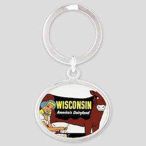 Vintage Wisconsin Dairyland Keychains