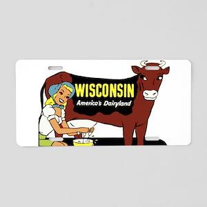Vintage Wisconsin Dairyland Aluminum License Plate