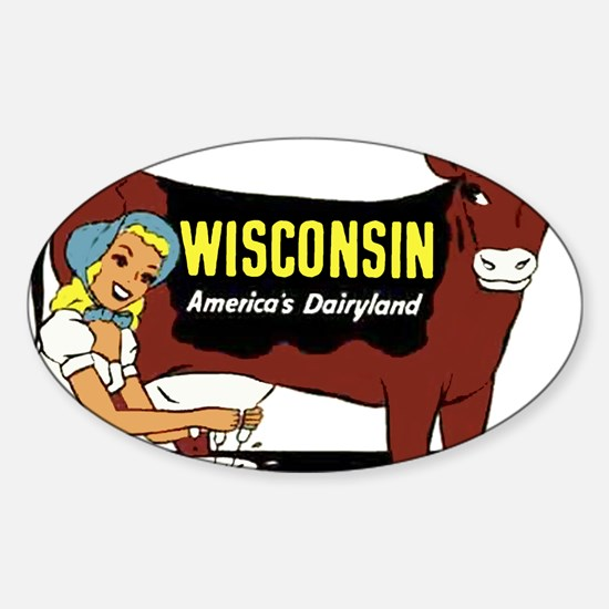 Vintage Wisconsin Dairyland Decal