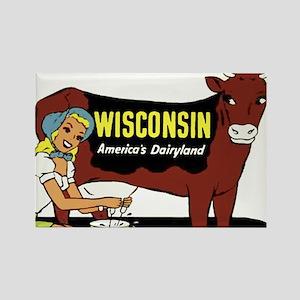Vintage Wisconsin Dairyland Rectangle Magnet