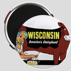 Vintage Wisconsin Dairyland Magnet