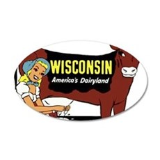 Vintage Wisconsin Dairyland Wall Decal