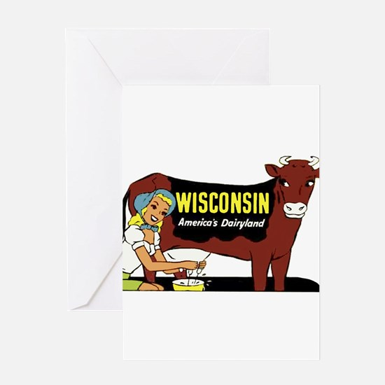 Vintage Wisconsin Dairyland Greeting Card