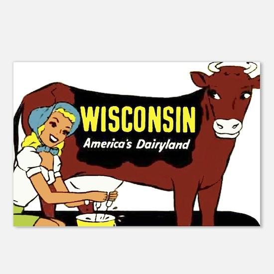 Vintage Wisconsin Dairyland Postcards (Package of