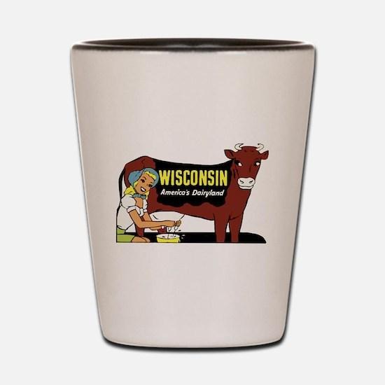 Vintage Wisconsin Dairyland Shot Glass