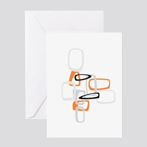 Space Age Rectangles Greeting Card
